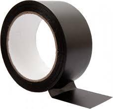 cinta aluminio negra adhesiva 50mmx10mtrs
