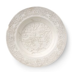 "Caroline Slotte, ""Tracing Series (10)"" 2015, reworked, second-hand ceramics, 8.5""."