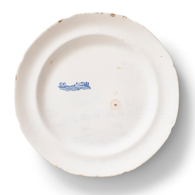 "Caroline Slotte, ""Far Away Places Series (1)"" 2014, reworked, second-hand ceramics, 10""."