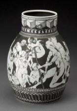 "Edward Eberle, ""The Prince's Retinue"" 1996, porcelain, 8.25 x 6"". photo: John Polak (Pennington)"