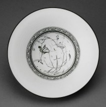 "Edward Eberle, ""The Bath"" 1994, porcelain, terra sigillata, thrown, brush painted, sgraffito, 6.25""."
