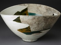 "Wayne Higby, ""Josiah's Canyon, Winter"" 1979, glaze, earthenware, 11.25 x 20.5 x 16""."