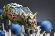 "Jason Walker, ""Wildflowers"" 2015, porcelain, stoneware, china paint, wood, spray paint, 23 x 20 x 20""."
