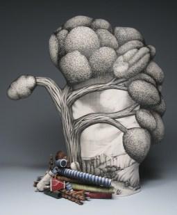 "Jason Walker, ""Flash Flood"" 2007, porcelain, 17 x 18 x 7""."