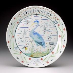 """Mara Superior, """"Ornithology"""" 2011, porcelain, glaze, 16""""."""