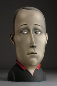 """Sergei Isupov, """"School Boy"""" 2008, stoneware, stain, glaze, 29.5 x 16 x 9""""."""
