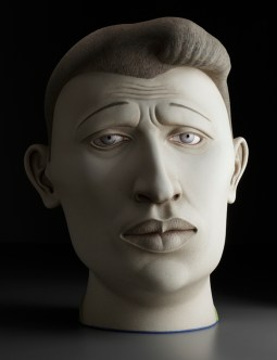 """Sergei Isupov, """"Midnight Son"""" 2009, stoneware, 27.5 x 18 x 17""""."""
