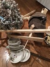 "Linda Sormin, ""The Disillusionment of the Toiler: Run Aground"" 2016, glaze, ceramic, mixed media."