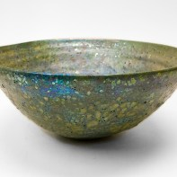 "Beatrice Wood, ""Lava Glaze Bowl"", c. late 1950s to early 1960s, earthenware, lava glaze, 5 x 11.5 x 11.5""."