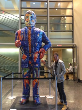 Paul Scott - Western Massachusetts - visiting Smith College Museum of Art - with Viola Frey