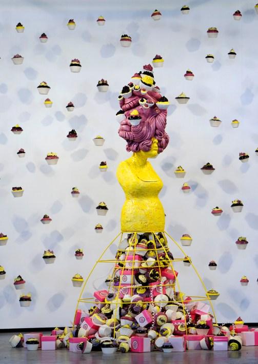 "Misty Gamble, ""Indulgence"" and ""Succulence"" 2012, ceramic, variable size."