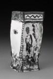 """Edward Eberle, """"Somewhere"""" 1989, porcelain, 6.5 x 3 x 3""""."""