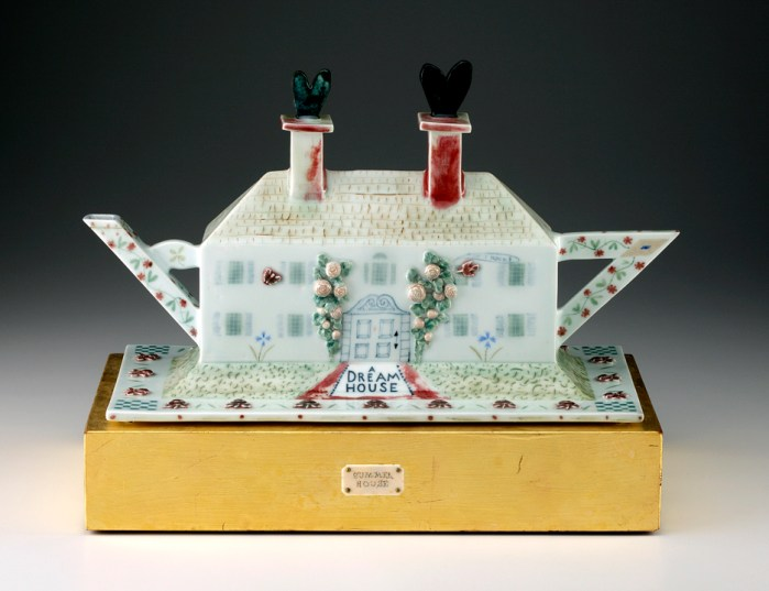 "Mara Superior, ""Dream House"" 2009, porcelain, 15 x 18 x 8""."