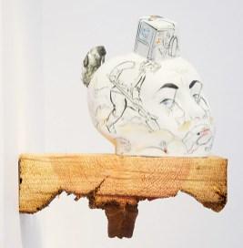 "Sergei Isupov, ""Great Work"" 2013, 7 x 7 x 2.5""."