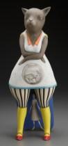 "Sergei Isupov, ""Two Fish"" 2011, porcelain, 16 x 7 x 6""."