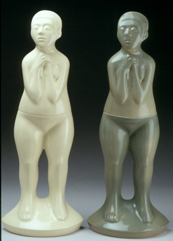 "Sergei Isupov, ""Figure"" (edition of 7), 2003, vitreous china, 38 x 15 x 8""."