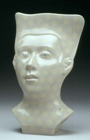 "Sergei Isupov, ""Likeness"" (edition of 6), 2003, vitreous china, 18 x 12 x 6""."