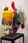 """Raymon Elozua, """"R&D IV RE-15-1a"""" 2014, ceramic, glaze, glass, 40 x 31 x 41""""."""