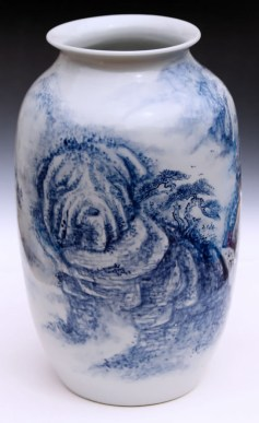 "Garth Johnson, ""The Shar-pei Immortals"" detail, 2010, porcelain, 11.5 x 6.5 x 6.5""."