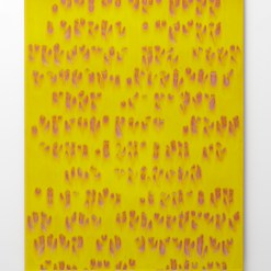 """Bobby Silverman, """"Decision Before Action"""" 2011, clay, commercial tile, 36 x 28 x 1/2""""."""
