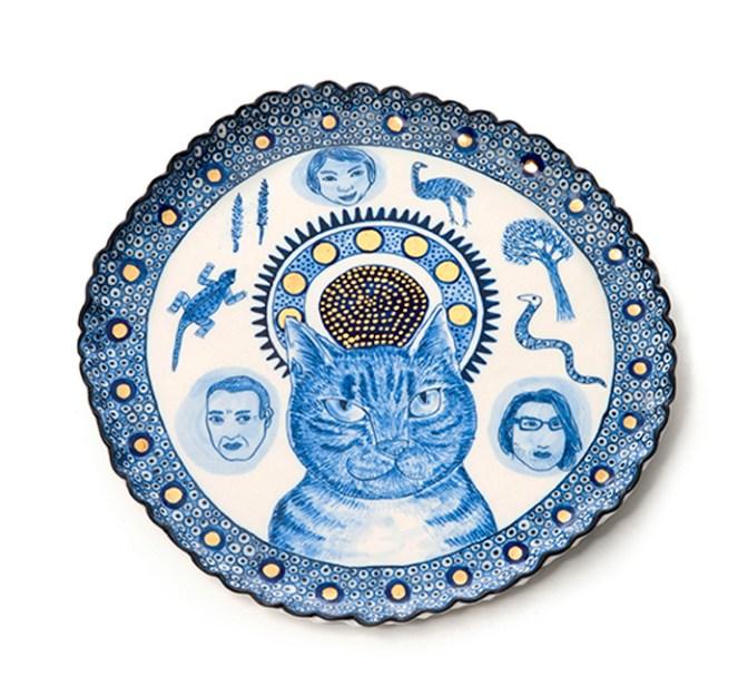 "Vipoo Srivilasa, ""Angel I"" 2014, porcelain, .5 x 10.5""."