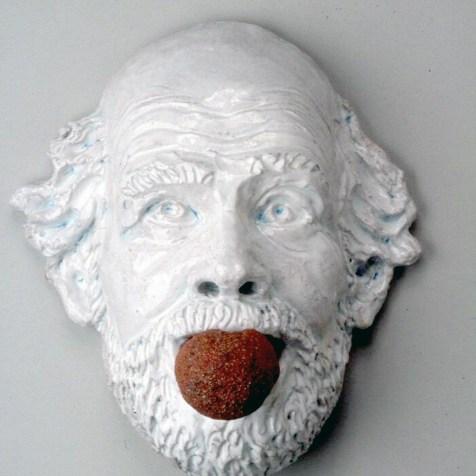 "MIAMI PROJECT   George Adams   Robert Arneson   ""Ceramic Gag #2"", 1991"