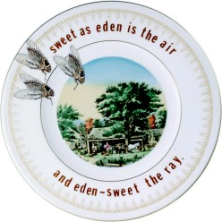 "Garth Johnson, ""Manifest Destiny (Currier and Ives - Autumn in New England #759)"" 2010, Bing & Grondahl limited edition Currier and Ives porcelain plate, decal, 8""."