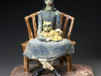 "Beatrice Wood, ""Not Married"" 1965, clay, glaze."