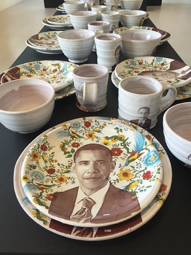 "Justin Rothshank, ""Presidential Table"" detail 2016."
