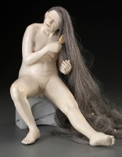 """Tip Toland, """"River of Patience"""" detail, 2002, ceramic, mixed media, 12 x 13 x 15""""."""
