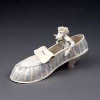 """Coille Hooven, """"The Hippie"""", 1987, porcelain, 4.5 x 8 x 3.25"""""""