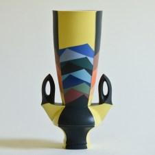 "Peter Pincus, ""Handled Vase"" 2018, colored porcelain, 11.5 x 4 x 6"""