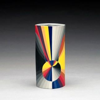 "Peter Pincus, ""Drinking Column, 1"" 2019, colored porcelain, 6 x 3 x 3""."