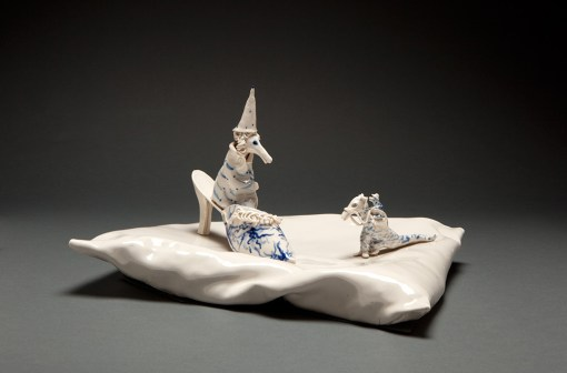 Coille Hooven, The Wizard, 1984, porcelain, 8.25 x 13.5 x 11.5""