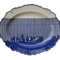 Paul Scott, Cumbrian Blue(s), New American Scenery, Across the Borderline (4) (Trumpian Campaigne), 2020