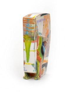 "Lauren Mabry, ""Glazescape 20.03"", 2020, earthenware, slip, glaze, 12.5 x 9 x 3.5"", view 6."
