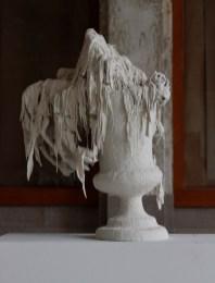 """Kate Roberts, """"Miss Havisham's Beauty"""", 2015, porcelain, 18 x 12 x 12""""."""