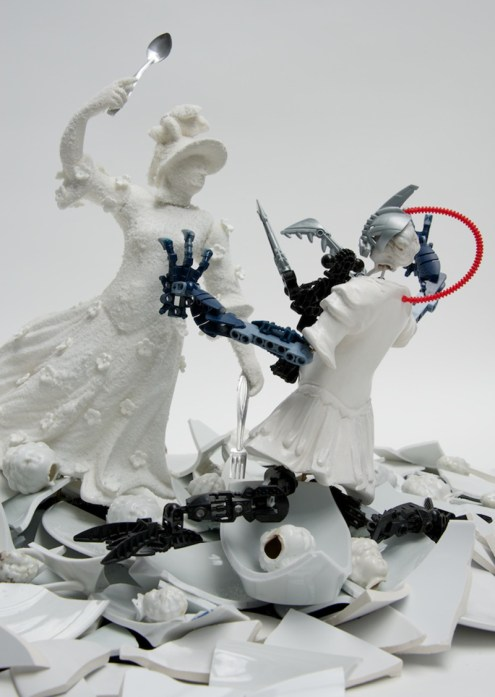 "Bouke de Vries, ""War and Pieces"" detail, 2012-23, Charlottenburg Palace, Berlin."