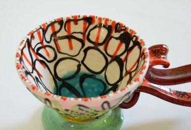 """Phillip Maberry, """"Cup"""" porcelain, 10 x 4 x 6""""."""