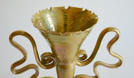 "Phillip Maberry, ""Gold Vase Chalice"" 1998, porcelain, 11 x 11 x 6""."