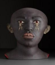 "Sergie Isupov, Boxer, 2009, stoneware, stain and glaze, 26.5 x 24 x 17"""