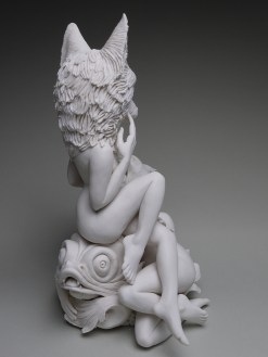 "Crystal Morey, Venus on the Waves, 2019, Hand sculpted porcelain, 14.25 x 10 x 8""."