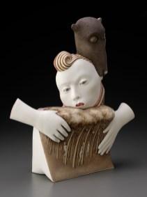 "Sergei Isupov, ""Seaside"" 2010, porcelain, 16 x 14.5 x 4""."