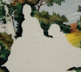"Hollie, Lyko, 2018-19, ""Lady and Gentleman no. 16"", dremel-erased plate, circa 1950."