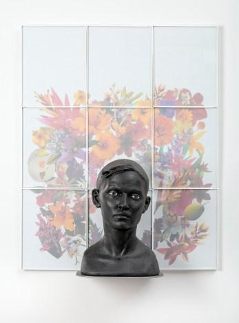 "Cristina Córdova, ""Cabeza V"" 2018, ceramic, 24.5 x 30.5 x 8"""