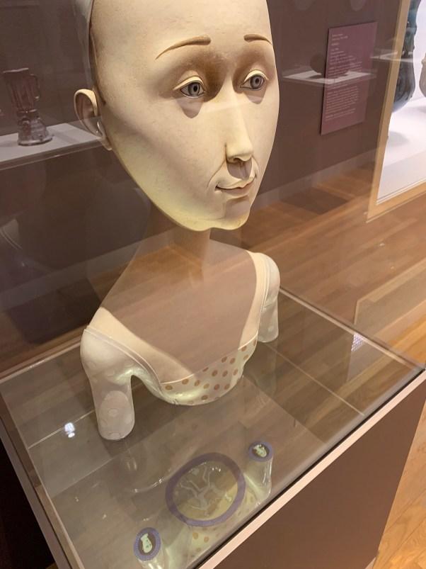 "Sergei Isupov, 'Lightness' 2008, stoneware, stain, glaze, 33 x 18 x 9"". Image courtesy of the Crocker Art Museum."