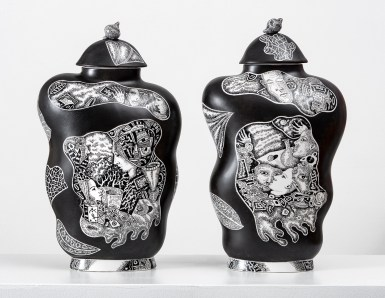 Kurt Weiser Black and White Vase 1 & 2 2019 13