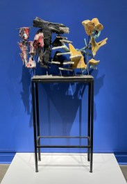 """Raymon Elozua, """"Digital Sculpture: RE34-1-word"""", Shapes out of Nowhere, Installation View at The Metropolitan Museum of Art, 2021"""