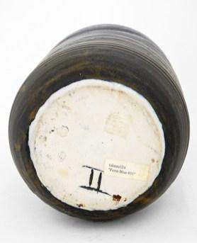 "Toshiko Takaezu, ""Form Blue #31"", 1990, porcelain, 19""H"
