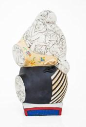"Sergei Isupov, ""Earth and Sky"", 2020, porcelain, slip, glaze, 10.5 x 6 x 4""."